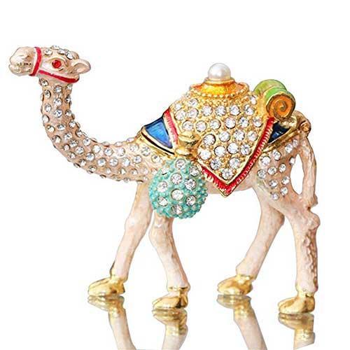 Waltz&F Camel Figurine Jewelry Trinket Box