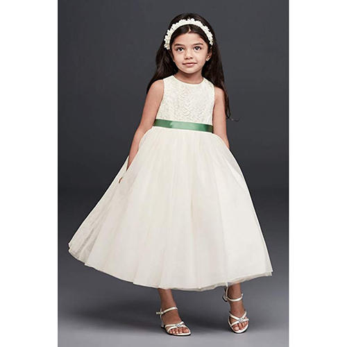 Lace and Mesh Tank Dress