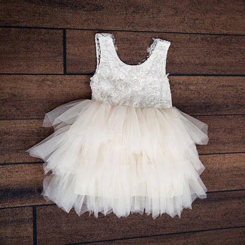 Nicolette's Couture Toddler Tulle Wedding Gown