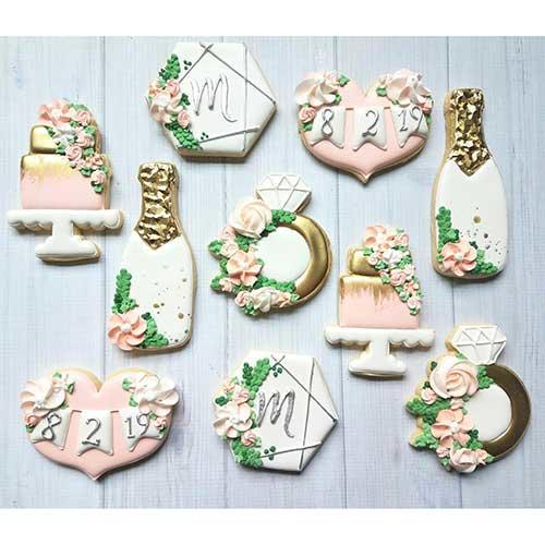 Sweet By Natalie Floral Bridal Shower Cookies