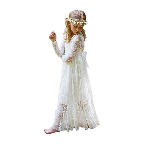 Abaowedding Ivory White Lace Dress