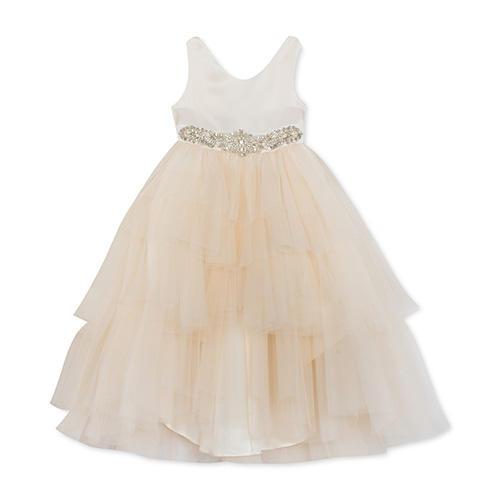 Rare Editions Satin Tulle Dress