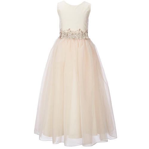 Chantilly Place Satin-to-Tulle Sleeveless Dress