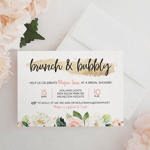 Sara Luke Creative Brunch & Bubbly Bridal Shower Invitation