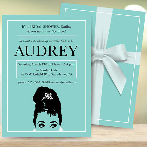Fanity Fair Breakfast at Tiffany's Bridal Shower Invite