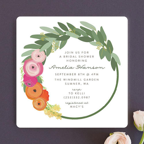 Itsy Belle Studio Flower Crown Invitations