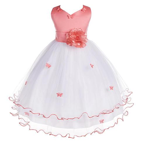 Ekidsbridal Satin Butterfly Dress