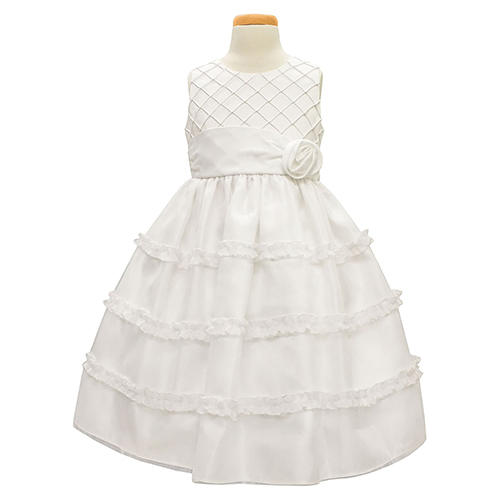 Sorbet Diamond Pleated Satin Dress