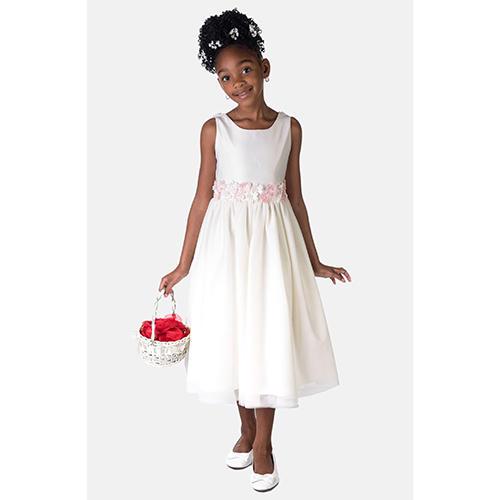 Sorbet Flower Satin Dress