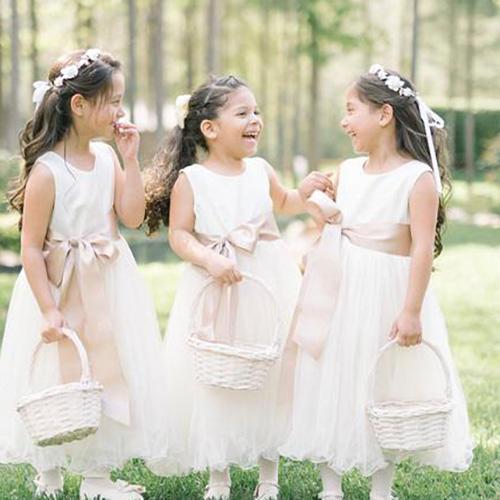 Ana Balahan Simple Satin Tulle Dress