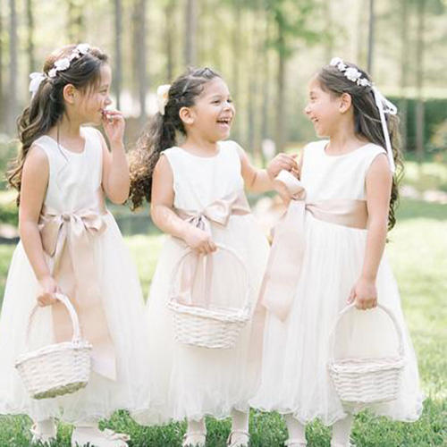 Flofallzique Chiffon Flower Girl Dress Wedding Junior Bridesmaid Dress Prom Party Dress