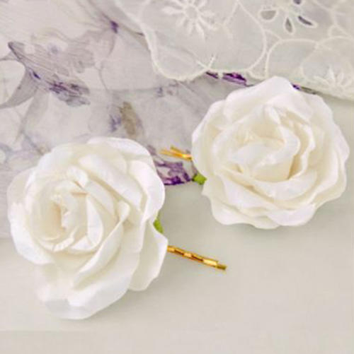 Fig by Madeleine Fig Handmade Paper Flower Hair Pin Set