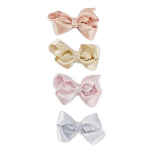 Starting Out Baby Girls Shimmer Satin 4-Pack Clips