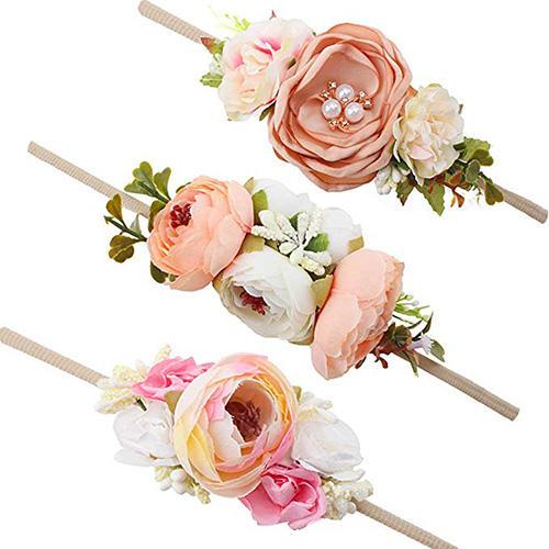 Baby Girl Floral Headbands Set