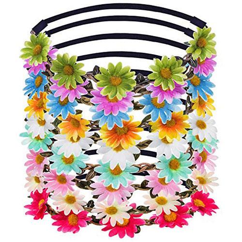 eBoot Lady Multicolor Daisy Flower Crown