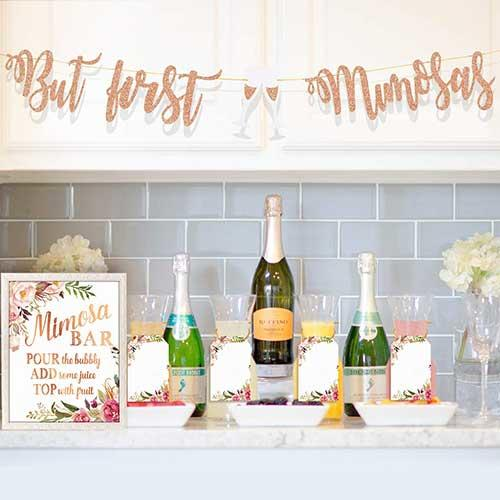 Mordun Mimosa Bar Sign, Banner and Tags