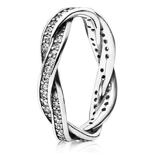 Pandora Sterling Silver Twist of Fate Ring