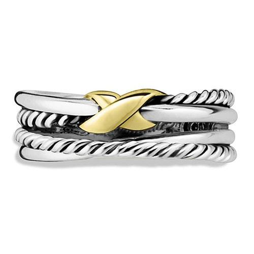 David Yurman 'X' Crossover Ring
