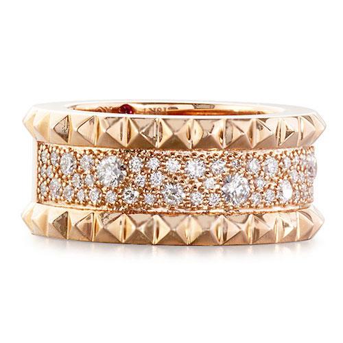 Roberto Coin Rock & Diamonds Slim 18K Rose Gold Ring