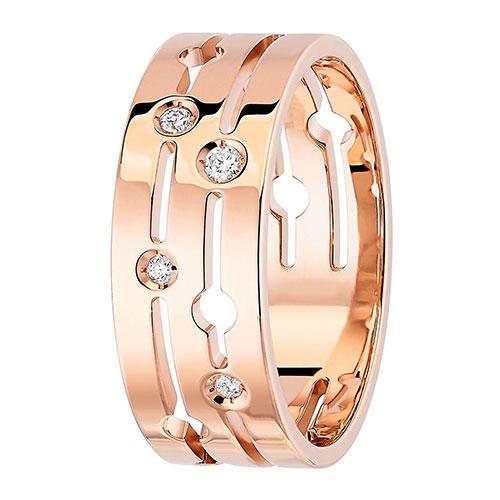Dinh Van Pulse Diamond 18k Rose Gold Ring