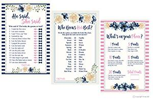 One Lily Press 3 Bridal Shower Game Collection