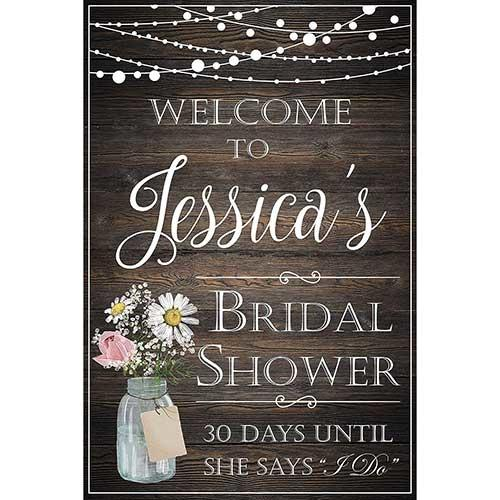 Rustic Boho Chic Welcome Sign