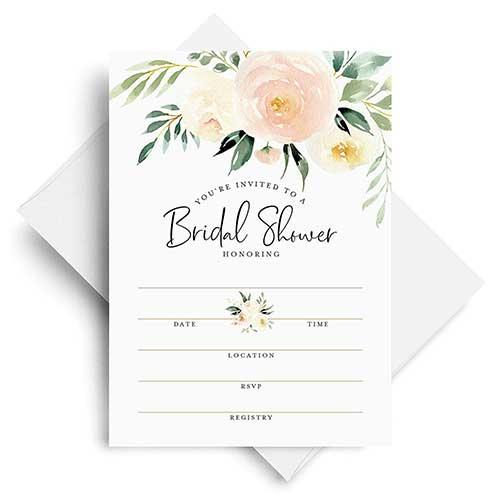 Bliss Collection Coral Watercolor Invites With Envelopes