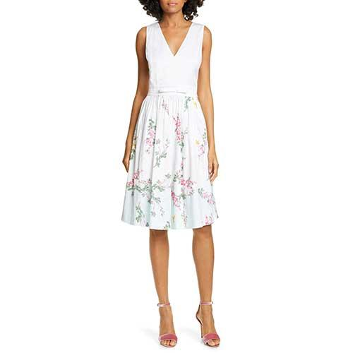 Ted Baker London Reyyne Bow Detail Sleeveless Stretch Dress