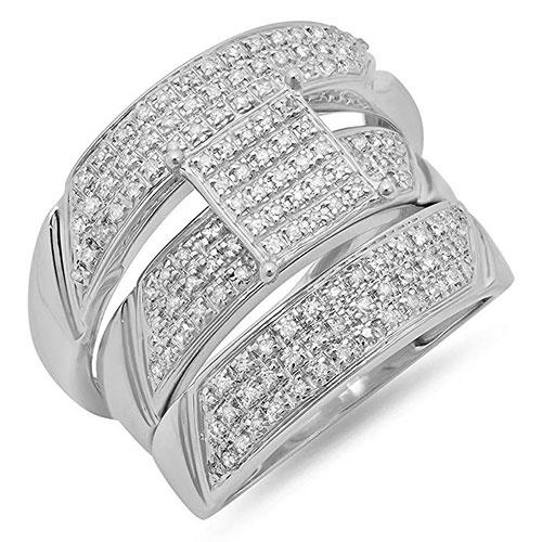 Dazzling Rock Round Diamond Mens & Womens Rings