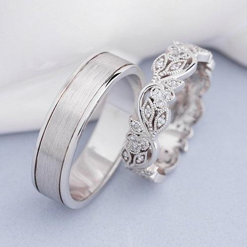 Jewelry Escorial Milgrain Wedding Bands