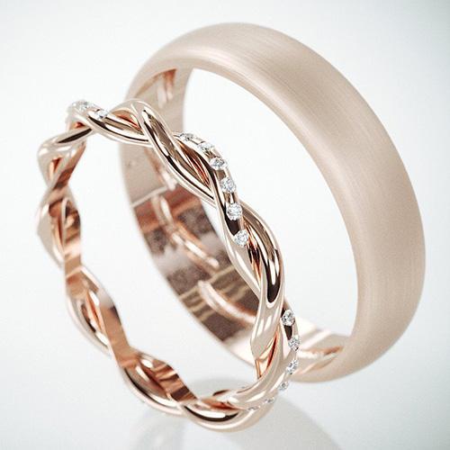byADORA Braided Set With Diamonds