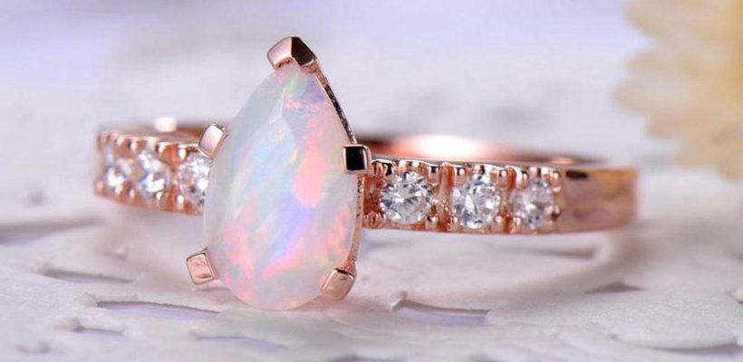 Glowing green fire opal ring anniversary gift custom wedding ring elegant opal ring original design rings silver opal engagement ring