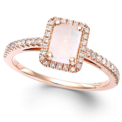 Macy's 1/2 Carat Rose Gold Ring