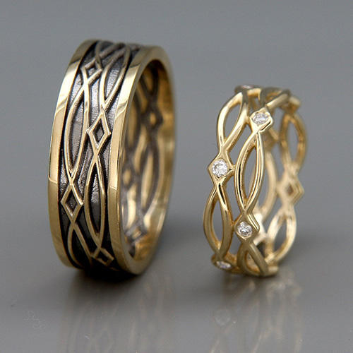 byADORA His & Hers Celtic Rings