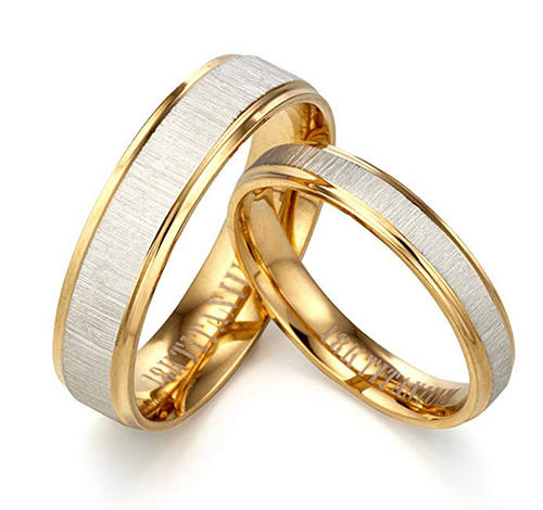 Gemini Yellow Gold Matching Bands