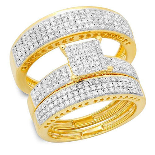 Dazzling Rock White Diamond Rings