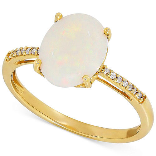 Macy's Opal & Diamond Accent Ring
