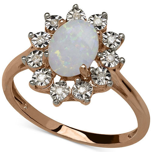 Macy's Opal Accent Ring