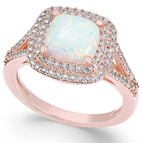 Lab Created Opal and White Sapphire