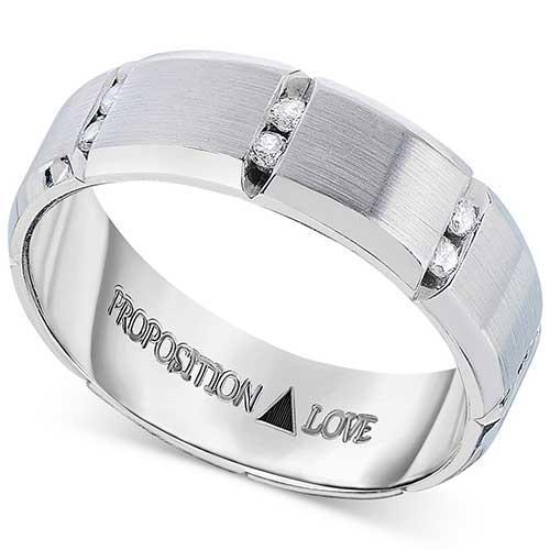 Proposition Love Men's Diamond Band in 14K