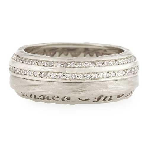 Marco Dal Maso The Other Half Men's 18K White Gold Band with Diamonds