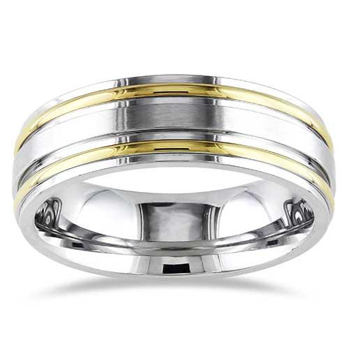 Miadora Stainless Steel Wedding Band Link to Product