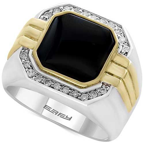 EFFY Collection Onyx, Diamond and Gold Band