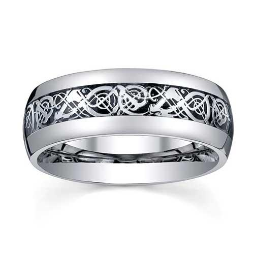 Comfort-Fit Stainless Steel Ring