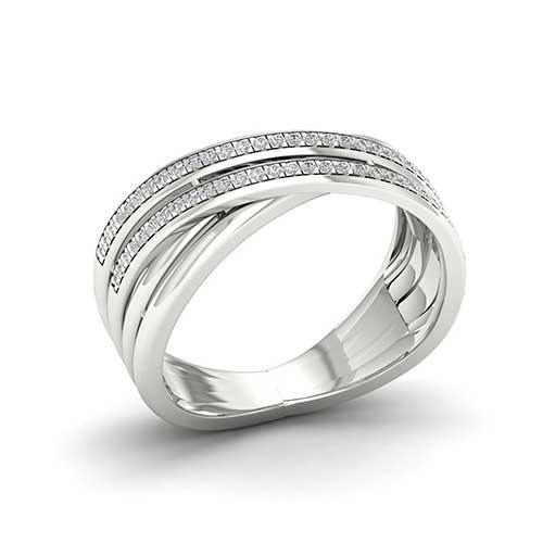 Amouria Diamond Criss Cross Ring