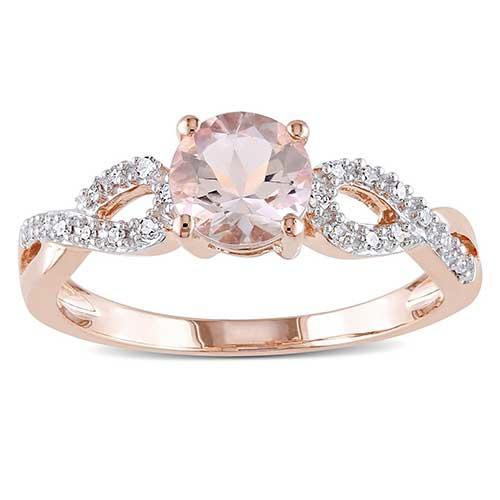 Miadora Rose Gold Infinity Ring