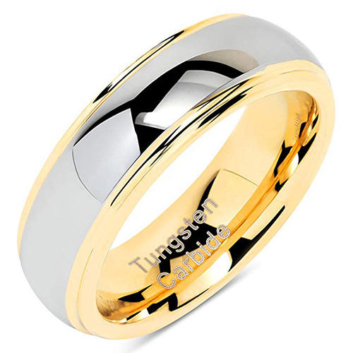 100S Gold and Silver Tungsten Ring