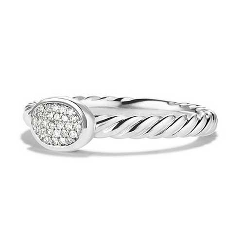 David Yurman Cable Band with Diamonds