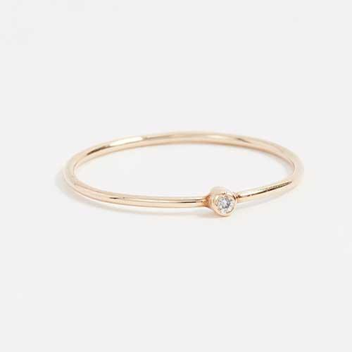 Jennifer Meyer Gold Diamond Ring