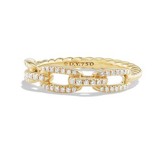 David Yurman Stax Pavé and Gold Band